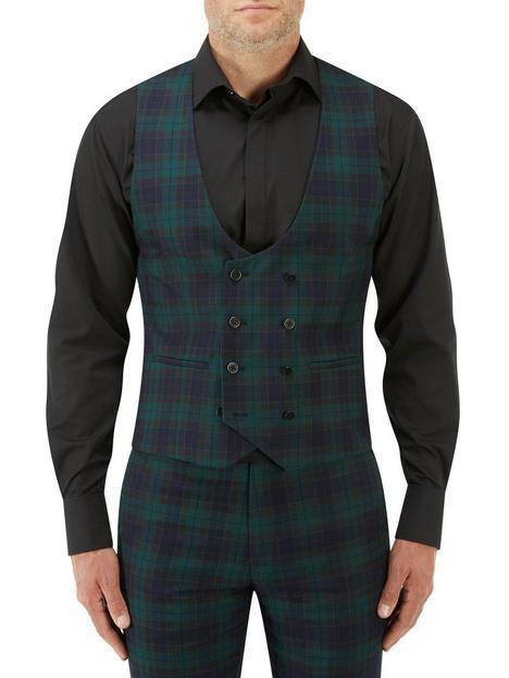 skopes-sanchez-double-breasted-scoop-waistcoat-greennavynbsp