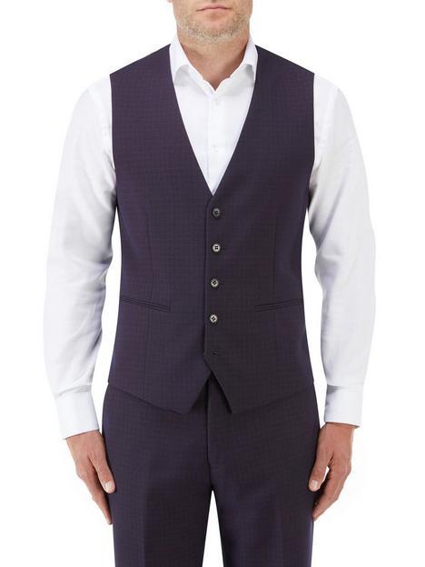 skopes-mac-standard-v-waistcoat-navynbspcheck