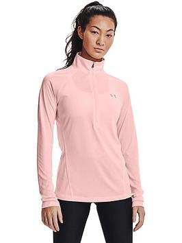 under-armour-tech-12-zip-pinksilver