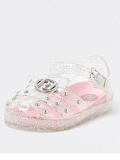 river-island-mini-mini-girls-studded-glitter-jellie-sandal-clearpink