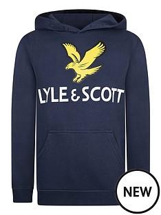 lyle-scott-boys-eagle-logo-overhead-hoodie-navy