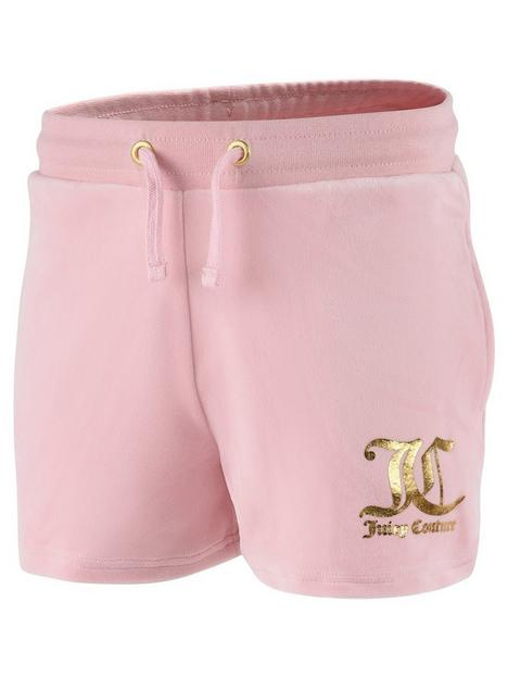 juicy-couture-girls-velour-short-pink