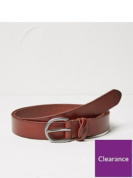 fatface-plait-keeper-leather-belt-chestnut