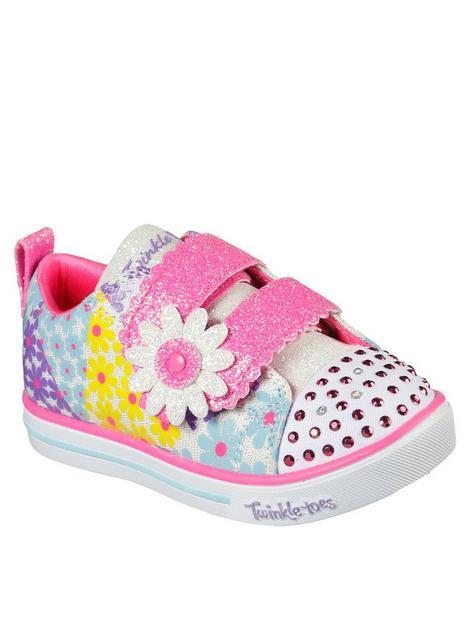 skechers-sparkle-lite-mini-blooms-plimsoll--multi