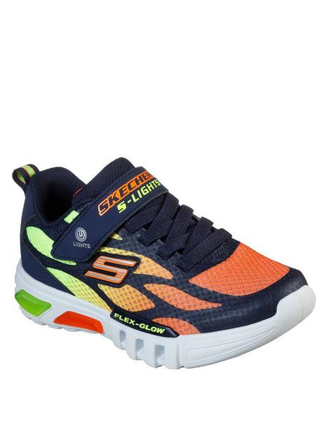 skechers-flex-glow-dezlom-trainer-navyorange