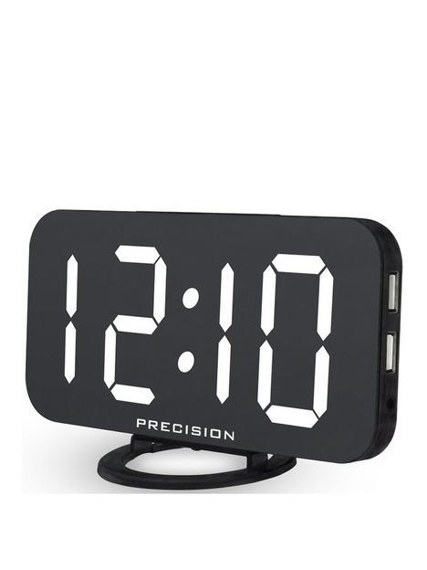 precision-dual-usb-charger-alarm-clock