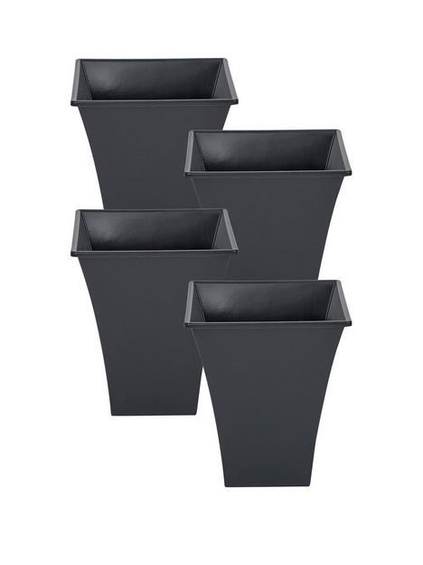 wham-set-of-4-slate-square-metallica-planters-23cm