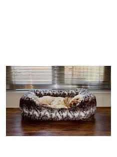 rosewood-brown-cosy-fur-print-bed-lge