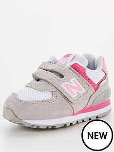 new-balance-infant-girls-velcro-574-trainer-pink