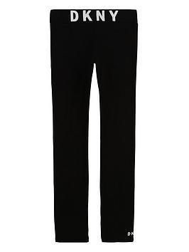 dkny-girls-logo-leggings-black