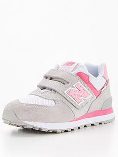 new-balance-childrens-girls-hook-and-loopnbsptrainer-pinknbsp