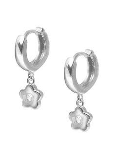 the-love-silver-collection-the-love-silver-11mm-cubic-zirconia-flower-charm-huggies