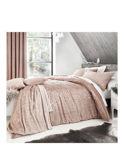by-caprice-vivian-sparkle-faux-fur-duvet-covernbspset-blush