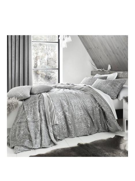 by-caprice-vivian-sparkle-faux-fur-duvet-covernbspset-grey