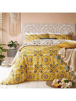 riva-home-folk-flora-duvet-cover-set-ochre