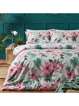 riva-home-hibiscus-duvet-covernbspset-pink