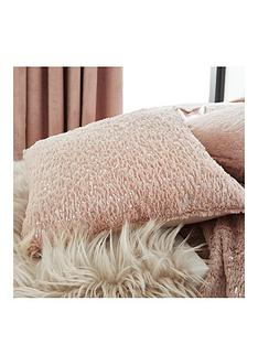 by-caprice-vivian-sparkle-faux-fur-cushion-blush