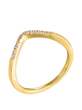 the-love-silver-collection-wishbone-cubic-zirconia-ring