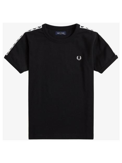 fred-perry-boys-taped-ringer-t-shirt-black