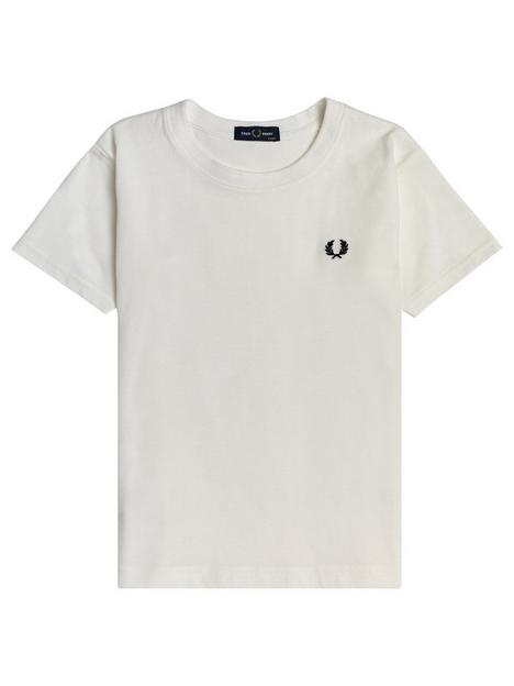 fred-perry-boys-crew-neck-t-shirt-white