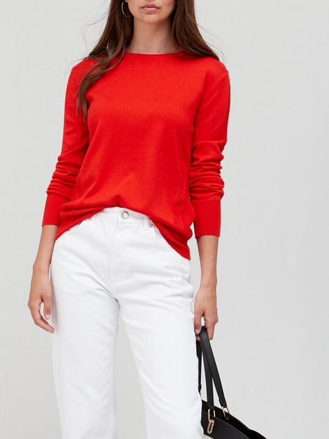 v-by-very-knitted-crew-neck-top-rednbsp