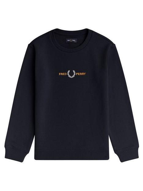 fred-perry-boys-embroidered-sweatshirt-navy