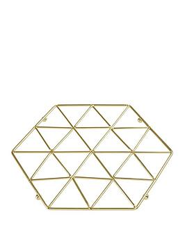 premier-housewares-vertex-trivet-gold