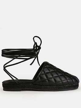 missguided-missguided-quilted-tie-up-mule-espadrilles-blacknbsp