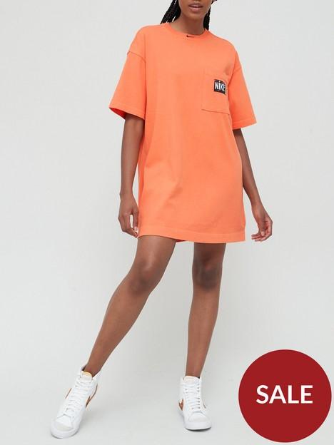 nike-nswnbspwash-effect-short-sleeved-t-shirt-dress-orange