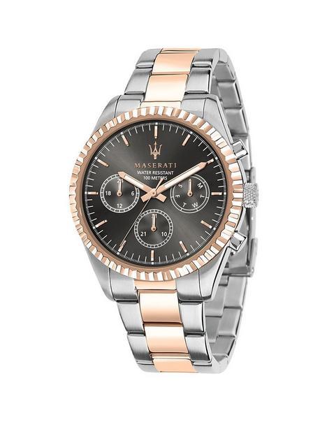 maserati-maserati-competizione-gunmetal-grey-43mm-chronograph-dial-rose-gold-stainless-steel-two-tone-bracelet-mens-watch