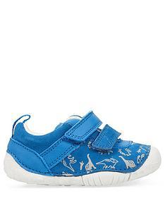 start-rite-roar-baby-strap-shoe-blue