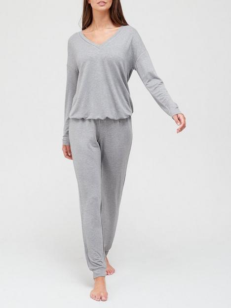 v-by-very-value-v-jumper-and-jogger-lounge-set-grey-marl