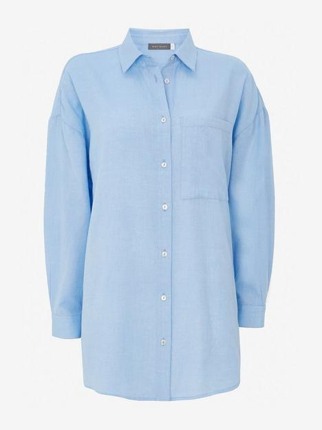 mint-velvet-brushed-cotton-shirt-blue