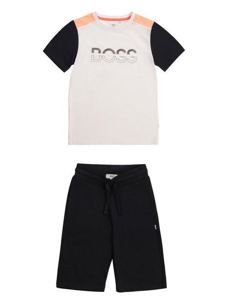 boss-boys-t-shirt-and-bermuda-shorts-whiteblack