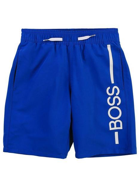 boss-boys-logo-swim-shorts-blue