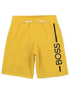 boss-boys-logo-swim-shorts-yellow
