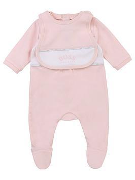 boss-baby-girl-sleepsuit-amp-bib-set-pale-pink
