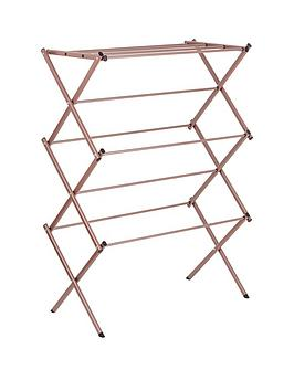 tower-rose-gold-collapsable-3-tier-expanding-rack-airer