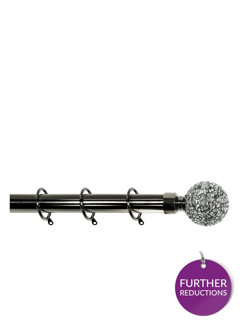 crackle-glass-finial-extendable-curtain-pole-ndash-black