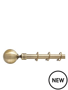 durham-ball-19mm-fixed-curtain-pole-antique-brass