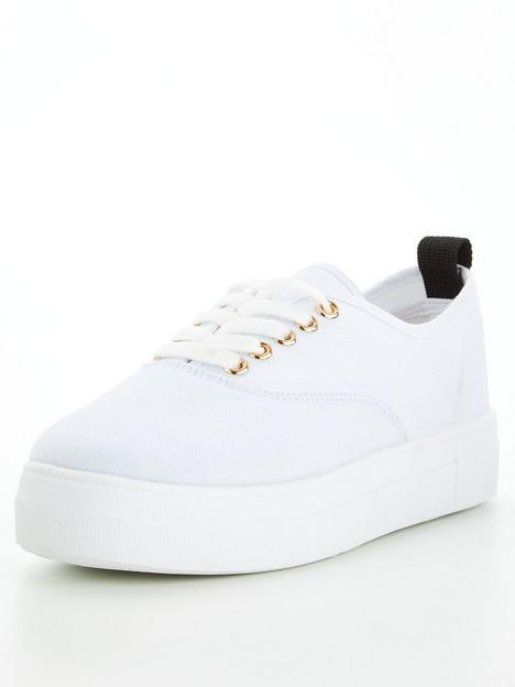 v-by-very-canvas-trainer-white
