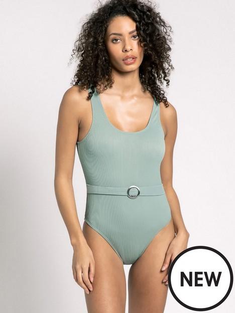 chelsea-peers-belted-swimsuit-khaki