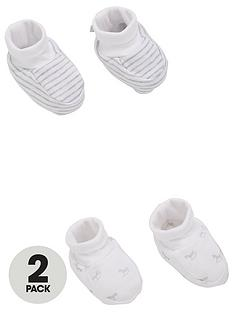 the-little-tailor-unisex-baby-2-pack-soft-jersey-baby-booties-white