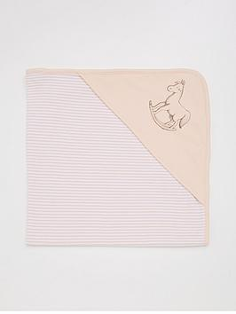 the-little-tailor-baby-girls-reversible-soft-jersey-blanket-pink