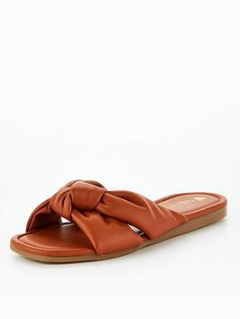 v-by-very-charm-knot-slider-sandal-tan