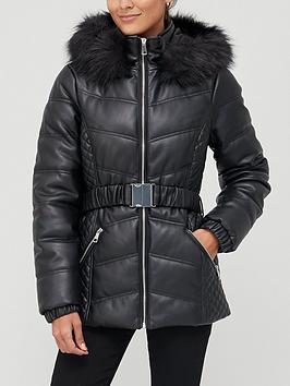 v-by-very-short-faux-leather-padded-coat-black