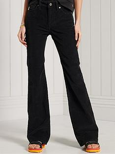 superdry-high-rise-skinny-flare-cord-jeans-black