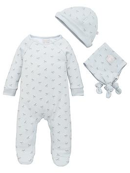 the-little-tailor-baby-boys-super-soft-jersey-sleepsuit-hat-and-comforter-blue