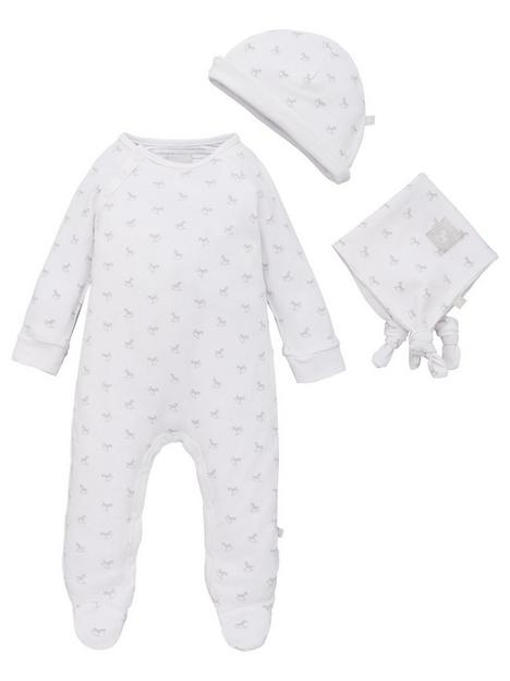 the-little-tailor-unisex-baby-super-soft-jersey-sleepsuit-hat-and-comforter-white