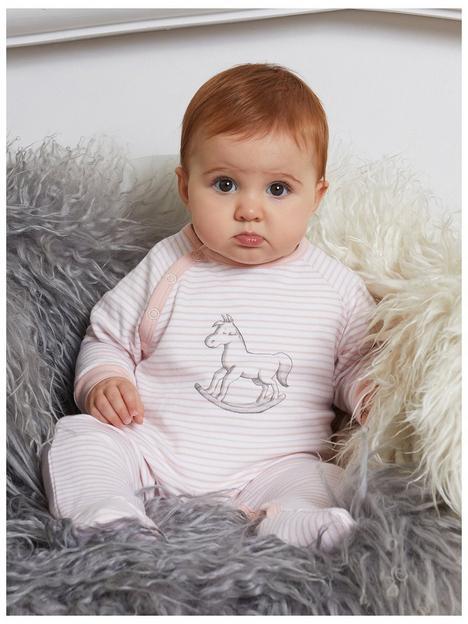 the-little-tailor-baby-girls-super-soft-jersey-stripe-chest-print-sleepsuit-peach